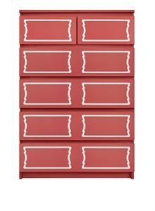 Picture of Dee Dee Double O'verlays Kit for IKEA MALM (6 drawer chest)