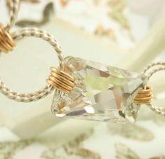 Silver Crystal Swarovski Bracelet by unkamengifts on Etsy, $60.00