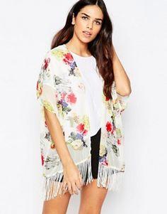 AX Paris Floral Kimono