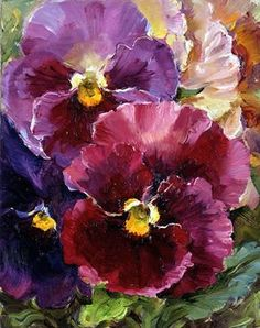 Pansies notecard Small note card 'Pansies' by Anne Cotterill Flower Art Cards The post Pansies notecard appeared first on Diy Flowers. Acrylic Flowers, Acrylic Art, Watercolor Flowers, Paintings Of Flowers, Arte Floral, Beautiful Paintings, Watercolour Painting, Watercolors, Pansies