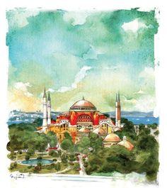 Istanbul Sketchbook by Ergun Gunduz by Ergun Gunduz, via Behance  www.armadaistanbul.com