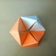 July 4th 2015 Origami rotating tetrahedron I made today. Designed by Tomoko Fuse; paper size: 7.5x7.5cm. #185 #origami #tetrahedron #diy #craft #handmade #paper #folding