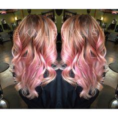 Pink balayage, pink hair