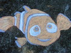 I went outside because I was feeling a little creative and did some chalk drawing. Ashton saw me drawing Nemo and decided he wanted to draw . Easy Chalk Drawings, Art Drawings, Drawing Art, Chalk Art Quotes, 3d Chalk Art, Chalk Photos, Chalk Design, Sidewalk Chalk Art, Chalk Pastels