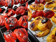 Twoje&Moje: Pieczona papryka marynowana w oliwie z czosnkiem
