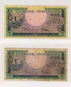 5 Rupiah Monyet cantik Tahun 1957 Original 2 huruf  http: http://jubel-uangku.blogspot.com