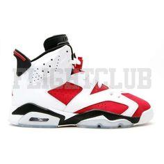 Air Jordan Retro 6 Carmine ❤ liked on Polyvore featuring shoes Jordan Retro  6 bd3194980