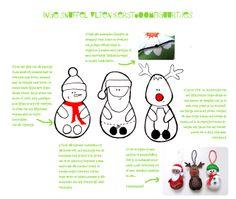 inge snuffel: vilten kerstboompopjes