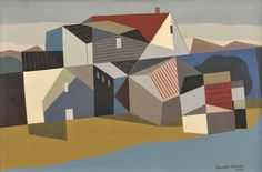 Kenneth Stubbs (American, 1907-1967) Provincetown | Sale Number 2547B, Lot Number 470 | Skinner Auctioneers | Sold for $9,480