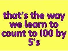 "Video, ""Counting by 5's"" (via Doodle Bugs Teaching)"