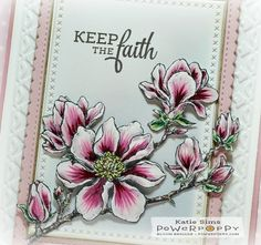 Planning for Magnolias stamp set by Power Poppy, card design by Katie Sims