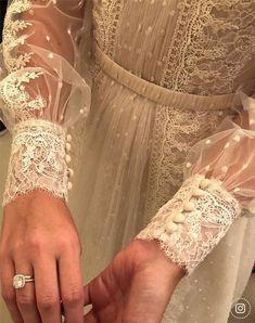 30 Stunning Long Sleeve Wedding Dresses For Brides ❤ long sleeve wedding dresses a line delicate lace rustic boho wanda borges ❤ Classy Wedding Dress, Wedding Dress With Veil, Wedding Dress Trends, Wedding Dress Sleeves, Long Sleeve Wedding, Bridal Wedding Dresses, Bridal Lace, Wedding Bride, Muslim Wedding Gown