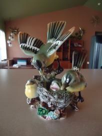 Vintage Bird Ceramic Figure Japan  ~~ Detailed ~~