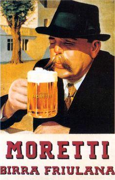 pivovar, bier, beer, birra e par furlan :bire Vintage Italian Posters, Vintage Advertising Posters, Vintage Advertisements, Vintage Ads, Poster Vintage, Cool Posters, Travel Posters, Beer Pairing, Beer Poster