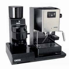 Gaggia Classic home espresso machine - makes your kitchen look great. Available at www ...