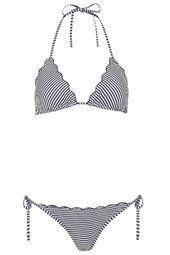 Stripe Frill Triangle Bikini Set