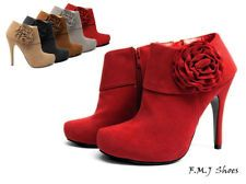 FMJ shoes S17 Elegant Flower Women Shoes High Heel Ankle Boots