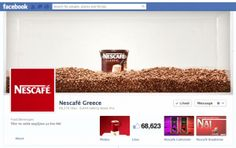 Nescafe uses Facebook cover photo to reveal new jars. Good idea