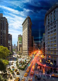 Stephen Wilkes, Day to Night series - The Flatiron, NYC