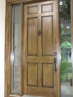 Front Door Redo Using Faux Wood Grain Technique | Faux wood paint ...