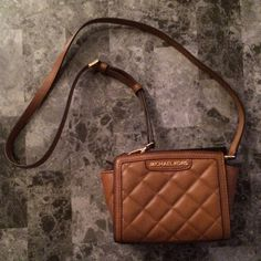 "Spotted while shopping on Poshmark: ""Michael Kors Walnut Quilted Mini Selma Crossbody""! #poshmark #fashion #shopping #style #Michael Kors #Handbags"