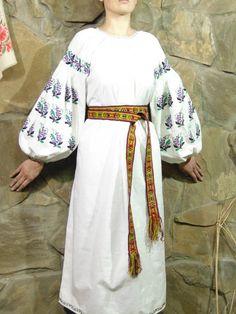 8b20e8bb6c Nice purple embroidery Folk Shirt Handmade Antique womens handmade  embroidered folk wear traditiona