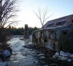 Considered a picture-perfect ghost town, Balaclava's focal point is its abandoned sawmill, which was founded in 1855 on Constant Creek. Toronto Vacation, Toronto Travel, Vacation Ideas, Cheltenham Badlands, Ontario Place, Manitoulin Island, Indoor Water Garden, Ontario Travel, Unusual Things
