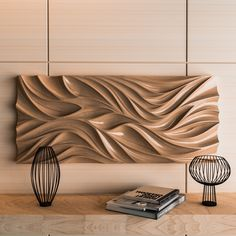Cnc Wood Router, Cnc Woodworking, Wood Lathe, Woodworking Projects, Parametrisches Design, Wall Design, Carved Wood Wall Art, Wooden Art, Cnc Wood Carving