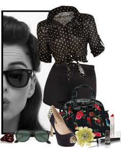 """Rockabilly Flair"" by stylesdice ❤ liked on Polyvore"