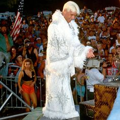 """In honor of his return at Raw Reunion this Monday, check out these photos of two-time WWE Hall of Famer """"The Nature Boy"""" Ric Flair's most stylin' and profilin' robes. Philadelphia Eagles Super Bowl, Ric Flair, Wwe Photos, Professional Wrestling, Wwe Superstars, Creative Inspiration, Dress To Impress, The Man, Boys"""