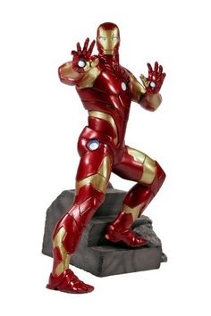"""Kotobukiya Avengers Reborn: Iron Man Fine Art Statue by Kotobukiya. $159.14. A Kotobukiya Japanese Import. High-quality cold cast porcelain. Stands over 13"""" high (1/6-scale). Based on the comic art of fan-favorite artist Salvador Larocca, who supervised its creation. Sculpted by Erick Sosa with William Valenzuela. From the Manufacturer                A Kotobukiya Japanese import. A """"cool exec with a heart of steel,"""" Tony Stark is the invincible Iron Man, fighting for justice as a..."""