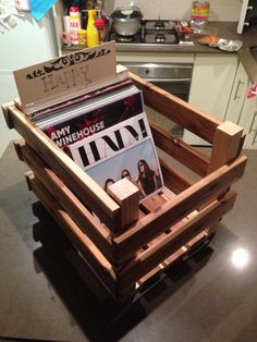 DIY vinyl record crate