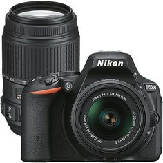 Nikon D5500 24.2MP Dslr Camera with 18-55mm Lens & Extra 55-300mm Telephoto Zoom Lens