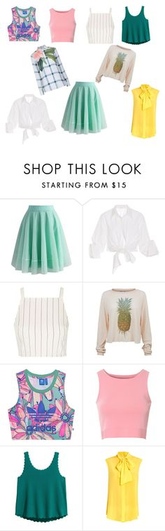 """""""Good things to wear(item green skirt)"""" by olushka32 on Polyvore featuring мода, Chicwish, Johanna Ortiz, Topshop, Wildfox, adidas Originals, Glamorous, Moschino и Ted Baker"""