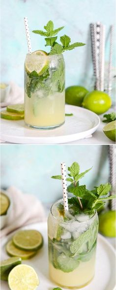 Mojito Margaritas by @how sweet eats I howsweeteats.com