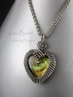 Woven Heart Pendant by LisaBarthJewelry on Etsy