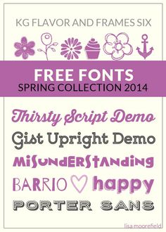 Free Fonts Spring Collection 2014  Lisa Moorefield