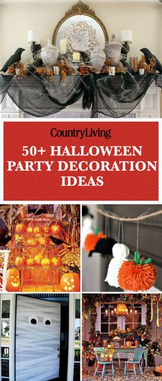 Save these halloween party decoration ideas for later by pinning this image and follow Country Living on Pinterest for more.