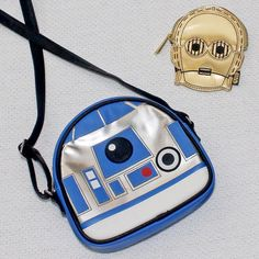 Loungefly R2-D2 crossbody bag and C-3PO coin purse