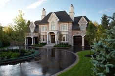 PCM Project & Construction Management Inc. - Your builder of new, luxury, custom built homes in Oakville and Mississauga. New Homes Oakville. Dream House Exterior, Dream House Plans, Big Houses Exterior, Brick Houses, Huge Houses, Luxury House Plans, House Exteriors, Dream Home Design, My Dream Home