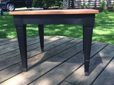 Midcentury End Table / Lamp Black / General Finishes / Nightstand / Accent Table