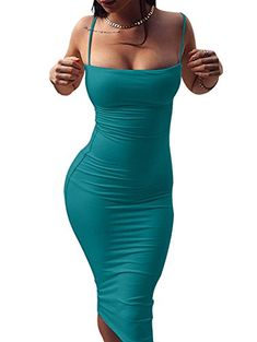 GOBLES Women's Sexy Spaghetti Strap Sleeveless Bodycon Midi Club Dress GOBLES is a fashion brand which is committed to provide high quality fashion clothes. Pretty Dresses, Sexy Dresses, Short Sleeve Dresses, Plus Size Maxi Dresses, Club Dresses, Midi Dresses, Very Short Dress, Cap Dress, Sheath Dress