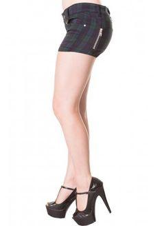 Banned Apparel Tartan Shorts