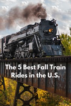 There's nothing more magical than steaming through colorful landscapes on a fall foliage train. Train Travel, Travel Usa, Train Trip, Vacation Places, Vacation Spots, Road Trip Map, Road Trips, Train Vacations, Scenic Train Rides