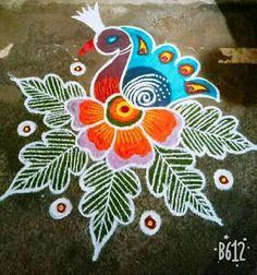 Rangoli Kolam Designs, Rangoli Ideas, Kolam Rangoli, Bird Embroidery, Embroidery Designs, Mendi Design, Indian Language, Beautiful Rangoli Designs, Flower Decorations