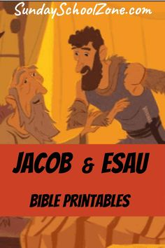 These free, printable, Jacob Bible activities are related to the story of Jacob and when he deceived his father, Isaac, in the Book of Genesis. Sunday School Stories, Free Sunday School Lessons, Sunday School Curriculum, Sunday School Crafts For Kids, Sunday School Activities, Preschool Bible Lessons, Bible Lessons For Kids, Bible Activities, Preschool Spanish