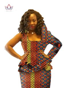 Dmart7deal Fashion Traditional Clothes for Women Plus Size 6xl Dashiki Cropped Top and Bazin Riche Skirt African Print Skirt Set BRW Y326