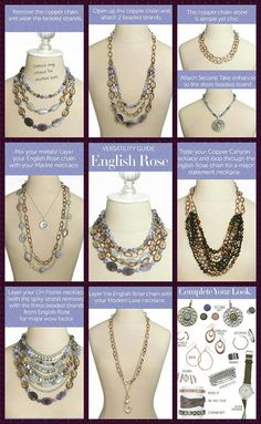 Premier Designs English Rose and Copper Canyon Necklaces                                                                                                                                                      More