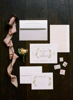 Minted.com Illustrated Floral Invitations