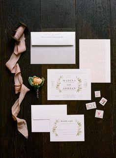 Minted.com Illustrated Floral Invitations
